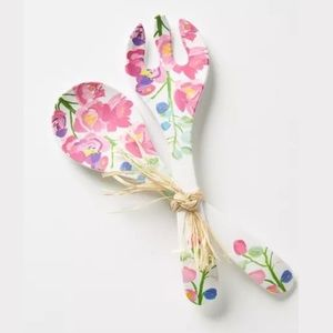 Anthropologie Kitchen - Anthropologie Paint + Petals Two Piece Serving Set